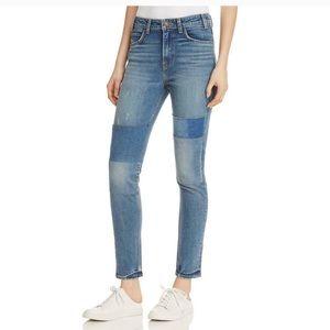 LEVI'S 721 high rise skinny vintage patchwork jean